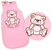 Spací vak TEDDY BEAR Baby Nellys - sv. růžový vel. 1