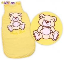 Spací vak TEDDY BEAR Baby Nellys - žlutý, krémový vel. 2