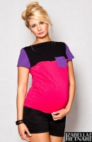 Těhotenské triko/halenka ANNA - růžová