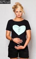 Těhotenské triko/halenka SRDCE - černé
