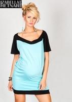 Těhotenské šaty/tunika STELLA - mátové