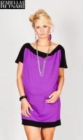 Těhotenské šaty/tunika STELLA - fialové