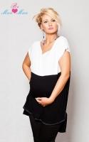 Těhotenské tunika RENÁTA - černá/bílá