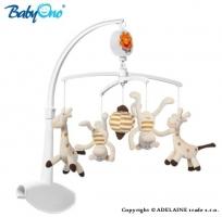 Kolotoč nad postýlku Baby Ono - Žirafky a opičky