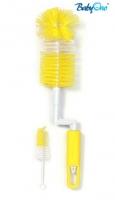 Kartáč k mytí lahviček otočný - žlutý