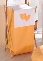 Luxusní praktický koš na prádlo - Srdíčko pomeranč