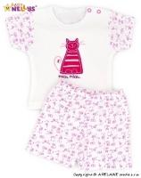 Triko krátký rukáv s kraťásky Baby Nellys ® Kočička