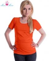 Triko JOLY bavlna nejen pro těhotné - pomerančové