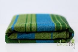 Little FROG Tkaný šátek na nošení dětí - Azurite