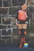 Little FROG Tkaný šátek na nošení dětí - RODONIT