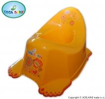 Nočník TEGA BABY - FOLKY žlutá, s tlapkami