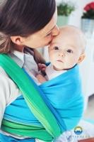 Little FROG Tkaný šátek na nošení dětí - Mořský OPAL