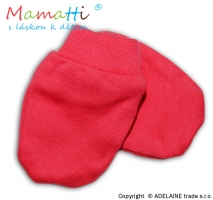 Kojenecké rukavičky - koral