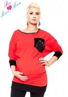 Těhotenská mikina MIA - červená