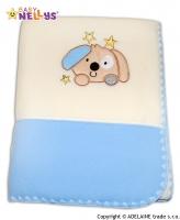 Dečka polar Baby Nellys® PEJSEK sv.modrá/smetana