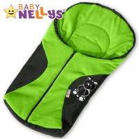 Fusák nejen do autosedačky Baby Nellys ® POLAR - zelený medvídek