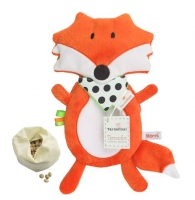 Nahřívací plyšová hračka Liška s třešňovými pecičkami