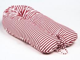 Kojící polštář - relaxační poduška Nellyska Multi - Červené pruhy