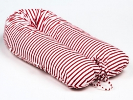 Potah na kojící polštář - relaxační poduška Nellyska Multi - Červené pruhy
