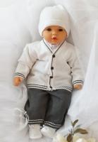 Soupravička ke křtu - Kabátek a kalhoty