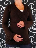 Těhotenský svetřík - Maminka I. - hnědá