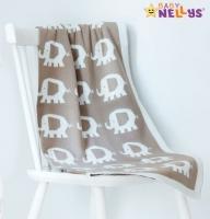 Dečka z úpletu Baby Nellys ® SLON - šedá