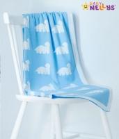 Dečka z úpletu Baby Nellys ® DINO - sv. modrá