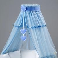 Nebesa šifon - modrý / srdce modré