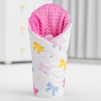 Luxusní zavinovačka MINKY BABY - oboustranná barevné mašličky/bílá