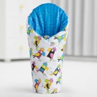 Luxusní zavinovačka MINKY BABY - oboustranná papoušci/bílá