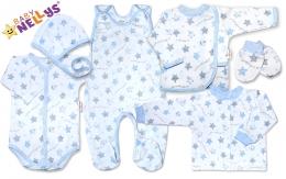 Soupravička do porodnice 7D Baby Nellys ®- Hvězdičky modré