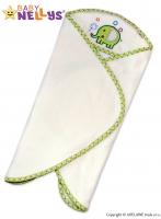Zavinovací deka do autosedačky Baby Nellys ® SLON - smetanová