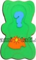 Matračka - houba ke koupání miminek MINI - Zelená
