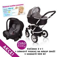 Kočárek LATINA Coto Baby 3v1 + dárkový kupon 500kč - len