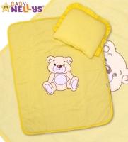 Sada do kočárku jersey Medvídek TEDDY BEAR Baby Nellys - krémově žlutá