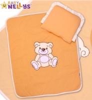Sada do kočárku jersey Medvídek TEDDY BEAR Baby Nellys - broskvová