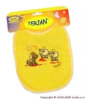 Bryndáček TERJAN - střední - žlutý/krémový