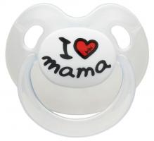 Silikonový ortodontický dudlík BIBI - I love Mama