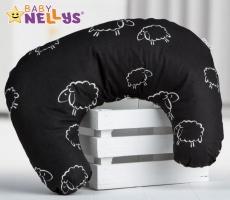 Kojící polštář BABY DREAMS - Ovečky v černé