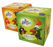 Papírové kapesníky Linteo Kids BOX 80ks, bílé, 2-vrstvé