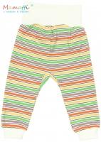 Tepláčky/polodupačky Mamatti - CAR - barevné proužky