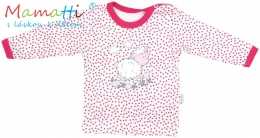 Tričko/košilka dlouhý rukáv Mamatti - SHEEP - červené puntíky