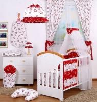 Kojící polštář BABY DREAMS - Srdíčka v bílé