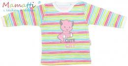 Tričko/košilka dlouhý rukáv Mamatti - CAT - barevné proužky