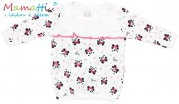 Halenka/tričko dlouhý rukáv Mamatti PANDA - bílá/potisk panda