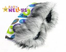 Rukávník ke kočárku s kožešinkou Baby Nellys ® flees LUX Eskymo