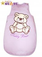 Spací vak TEDDY BEAR Baby Nellys - lila vel. 1