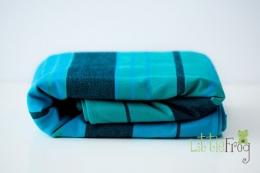 Little FROG Tkaný šátek na nošení dětí s vlnou MERINO - Chrysocolla