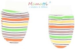 Kojenecké rukavičky Mamatti - CAR - barevné proužky