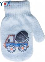 Kojenecké chlapecké akrylové  rukavičky YO - sv. modré